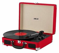 Akai Red Retro A60011NR Bluetooth Rechargeable Record Player -S/R
