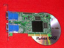AGP-GRAFIKKARTE Matrox Millenium G450 16MB DualHead für 2 Monitore 4xAGP+CD NUR: