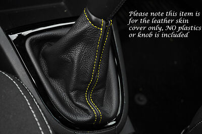 LEATHER GEAR GAITER ONLY FITS YELLOW STITCH RENAULT CLIO 2013