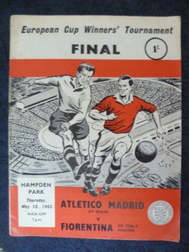 1962 European Cup Winners Cup FINAL ATLETICO MADRID v FIORENTINA,10 May OrgVG