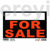 For Sale Sign Orange Black White Car Auto Truck Sell Now Reusable Plastic Sheet