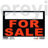 For Sale Sign Orange Black White Car Auto Truck Sell Now Reusable Plastic Sheet