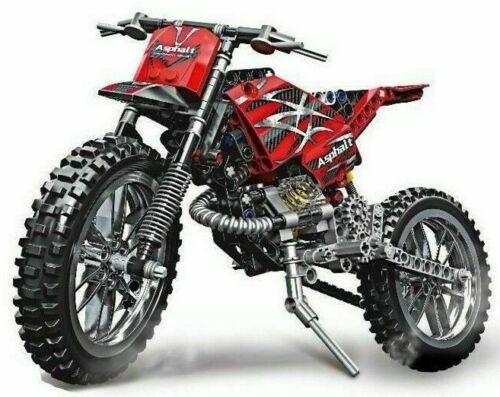 Building Blocks DIY Brick Toys 253 Pcs 2 in 1 Technic City Moto Cross Bike Toy