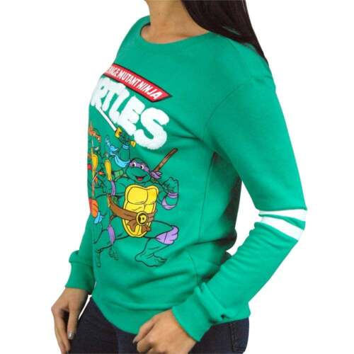 Womens Retro Teenage Mutant Ninja Turtles Sweatshirt by Freeze Green