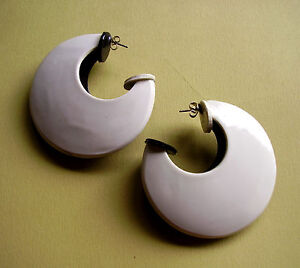 1737 / Boucles D'oreille Percees Bicolore Noir Blanc Reversible Rfx5qr6v-10112906-220661394