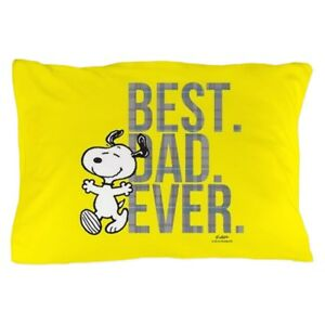 CafePress Snoopy Best Dad Ever Full Bleed Pillow Case (1924932134 ... e7c5a0a05cfc