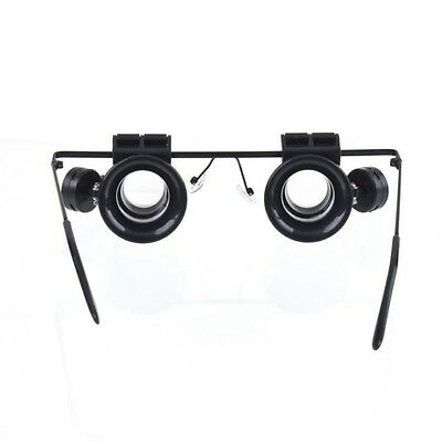 OE Glasses Type 20X Watch Repair Magnifier with LED Light