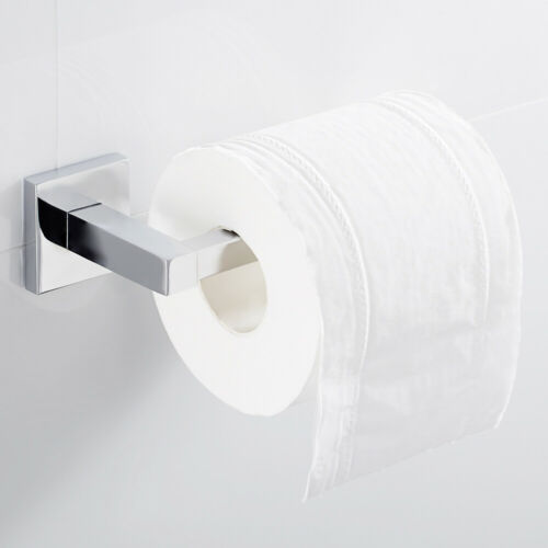 Steel Kitchen Bathroom Toilet Roll Holder Wall Mounted Rack Paper Towel Hook US