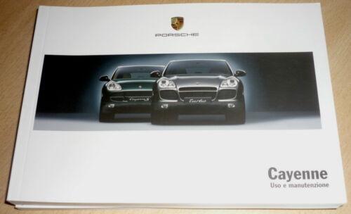 Porsche CAYENNE .Uso Manutenzione anno 2003 9PA