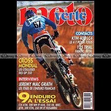 MOTO VERTE N°229-b GREG ALBERTIN KTM 400 LC4 FANTIC 240 SUZUKI DR 350 KTM 300 93