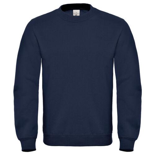 B/&C Adulti Manica Lunga Girocollo Pullover Felpa Maglione Caldo Casual Tinta Unita