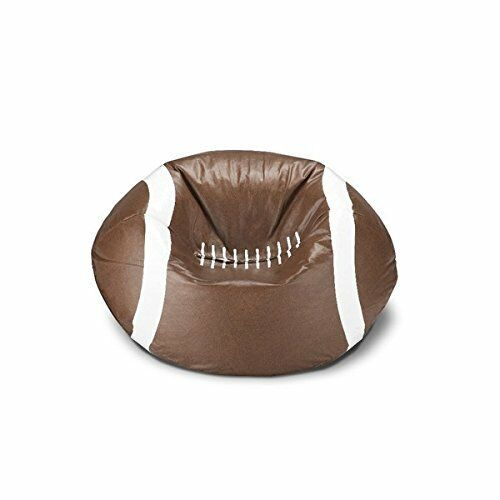 Magnificent Vinyl Football Shaped Bean Bag Chair Ideal For Teens Playing Games Watching Tv Creativecarmelina Interior Chair Design Creativecarmelinacom