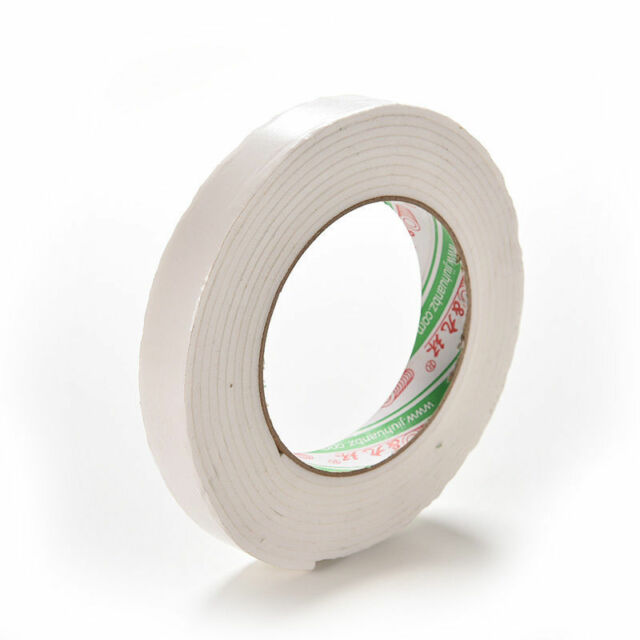 Double Sided White Foam Sticky Tape Roll Adhesive Super Strong easy SE