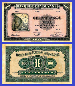 French Guiana 1 000 Francs 1942 UNC Reproduction