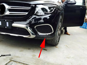 Front Fog Light Cover Trim For 2016 2017 Mercedes Benz Glc