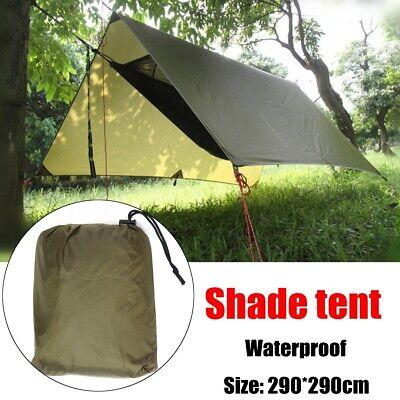 Portable Léger Camping Tente Tarp Shelter Mat Hamac couverture étanche Gear