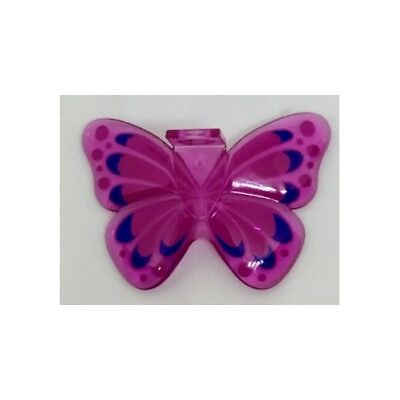 Lego New Trans-Dark Pink Minifigure Wings Fairy Pieces