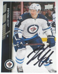 JACOB-TROUBA-SIGNED-15-16-UPPER-DECK-WINNIPEG-JETS-CARD-AUTOGRAPH-AUTO