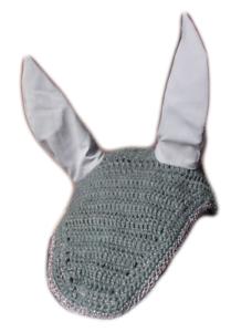 Horse-Earnet-Crochet-Fly-Veil-Equestrian-Fly-Bonnet-veil-Fly-mask-FSE07-Gray-20