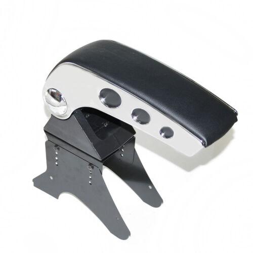 Chrome Armrest Centre Console Storage Box Organizer For Peugeot 206 207 307406