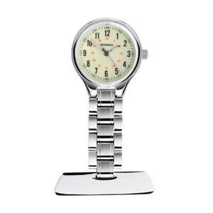 Sekonda Silver 25mm Nurses Fob Watch With Luminous Dial SK4015