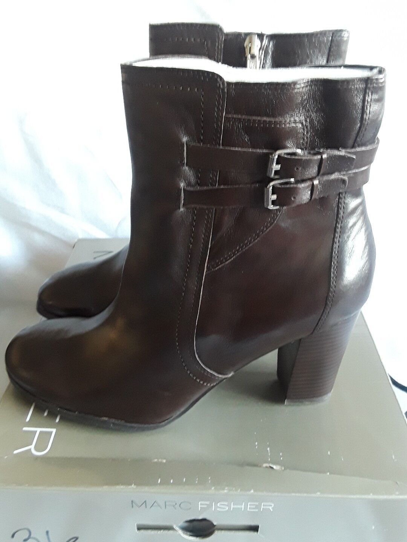 Women Marc Fisher kattie Boots Leather Dark Brown 11M