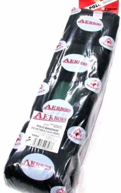 AERBORN 4x Stable Travel HORSE BANDAGE Pony Leg Wrap HOOK LOOP 10cm x 5m WHITE