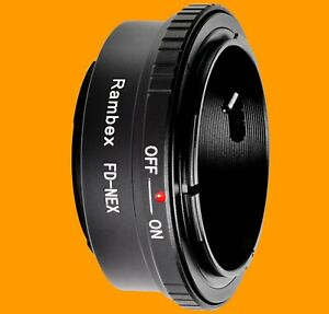 RAMBEX-Canon-FD-FL-Lens-to-Sony-E-Mount-Camera-Body-Adapter-for-A7-A6500-A6400