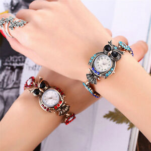 2019-Women-039-s-Vintage-Owl-Fashion-Quartz-Bracelet-Brand-Watches-Gift-Wrist-Watch