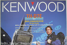 KENWOOD TH-D7e (BROCHURE ORIGINALE solo)............ radio_trader_ireland.