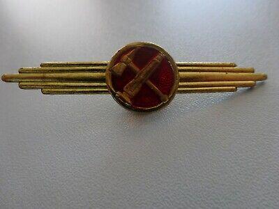 (a43-3 ) Ddr Feuerwehr Abzeichen Spange Original
