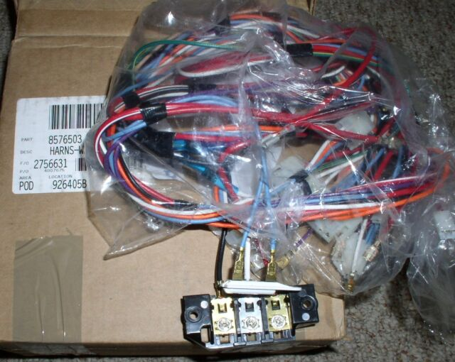 whirlpool dryer wiring harness part 8576503 ebay Thermostat for Whirlpool Dryer whirlpool dryer wiring harness part 8576503