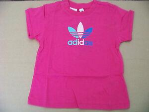 9f9d05c1541 Das Bild wird geladen adidas-Originals-Baby-Kleinkind-Maedchen-T-Shirt- Trefoil-