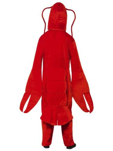 """Adult Lobster Fancy Dress Costume Sea Creature Suit 38-42/"""" New by Smiffys"""