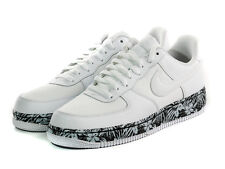 Nike Air Force 1 Floral Sole Mens Adult Leather Canvas Low Trainers White UK 17