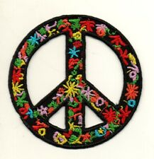 PEACE ON EARTH tie dye EMBROIDERED IRON-ON PATCH **FREE SHIPPING** hippie sign