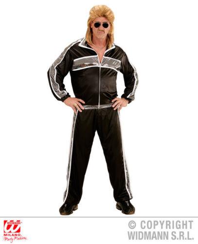 Mens Black Tracksuit 70S 80S Scouser Athlete Fancy Dress Costume Outfit