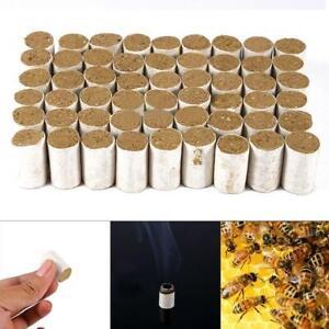 54X-Bienenzucht-Werkzeuge-Bee-Hive-Raucher-Kraftstoff-Chinese-Herb-Rauch-Honig
