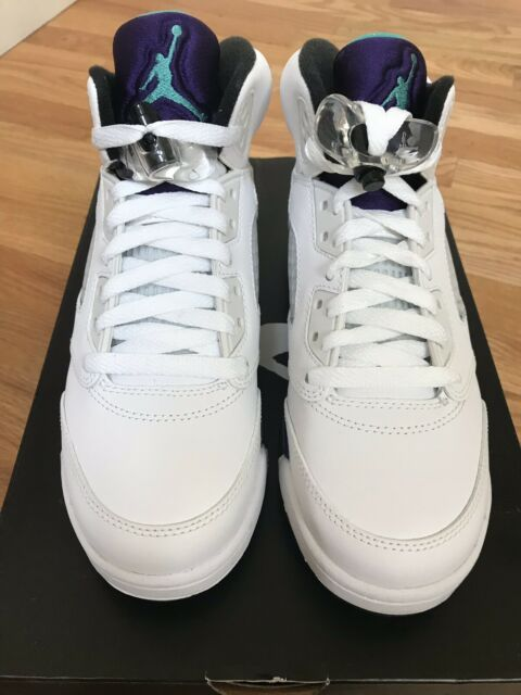 Air Jordan 5 Retro White and Purple 6y