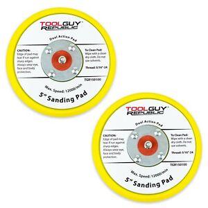 2 Pack For Random Orbital Sanders TGR 5 PSA Vinyl Low Profile Sanding Backup Pad