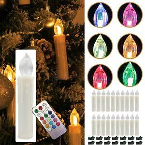 20xled weihnachtskerzen kerzen lichterkette kabellos christbaum baumkerzen rgb ebay - Baumkerzen led kabellos ...