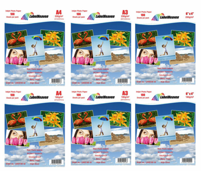 A4 A5 6x4 A6 10x15 13x18 by LH High GLOSS Premium Quality PHOTO PAPER A2 A3 A3