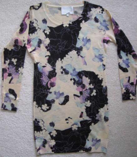 a Sz fiore colore Ladies multi maglia L lavorato Nwot 100 maglione stampa lana R1wPHqE14