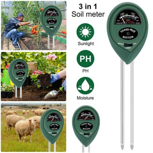 3in1 Soil Meter Tester Water Light PH Moisture Test Plant Flower Humidity Tools