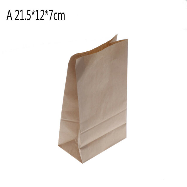 10pcs Food Grade Kraft Paper Gift Bags Craft Packing For Food Snace