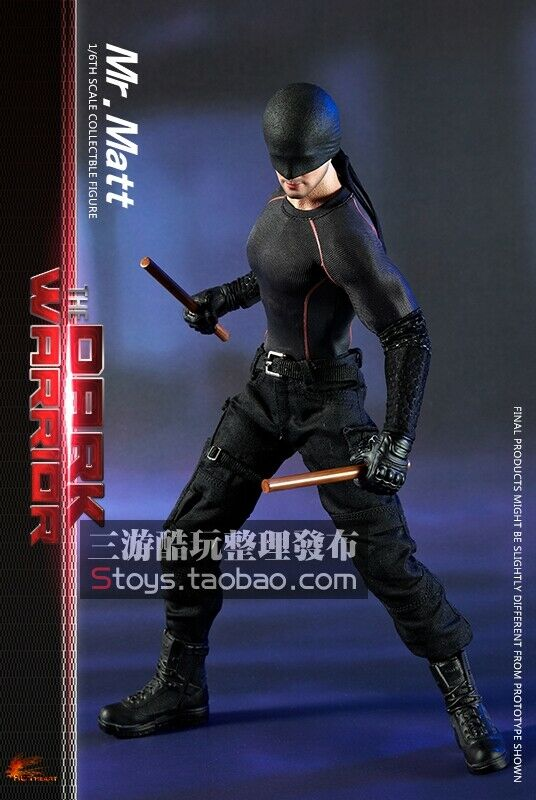 HOT HEART FD007 1 6 The Dark Warrior Male Figure Body& 2pcs Head & Accessory Toy