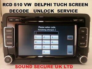vw delphi rcd510 rcd 510 radio mp3 player tuch screen. Black Bedroom Furniture Sets. Home Design Ideas