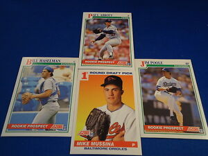 Details About Mike Mussina Lot Of 4 Score 91 Baseball Cards Draft Pick And Rookie Prospects