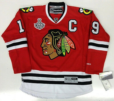 hot sale online 987b8 4a6ab JONATHAN TOEWS CHICAGO BLACKHAWKS 2010 CUP RBK JERSEY | eBay