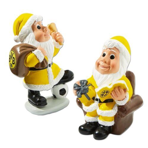 Borussia Dortmund Weihnachtsfigur 2er-Set Weihnachtsmann plus Nikolaus BVB 09